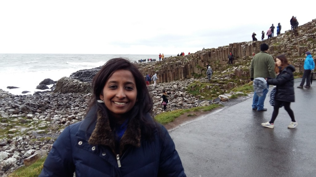 Jennifer at the Giants Causeway